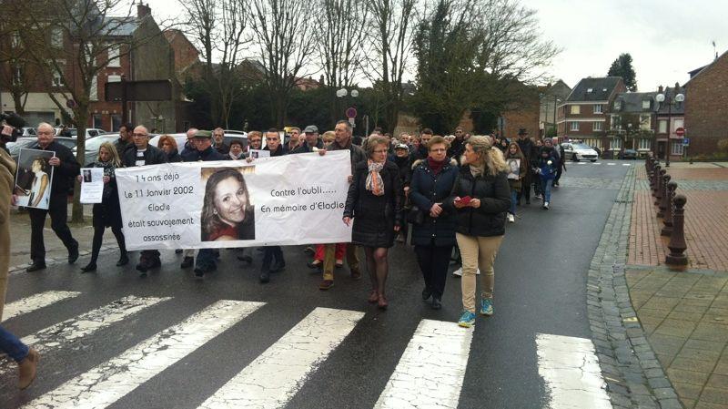 Ils ont été 150 à défiler à Péronne, là où Elodie Kulik avait ses habitudes