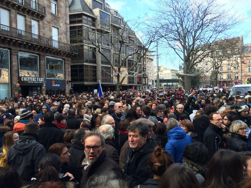 La place Kléber à Strasbourg, le 11 janvier 2015 - Radio France
