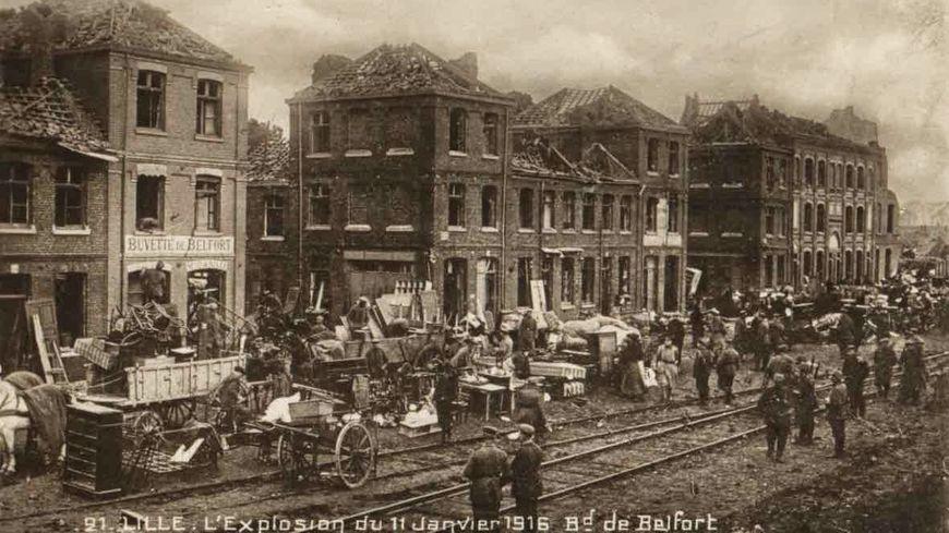 Le boulevard de Belfort après l'explosion