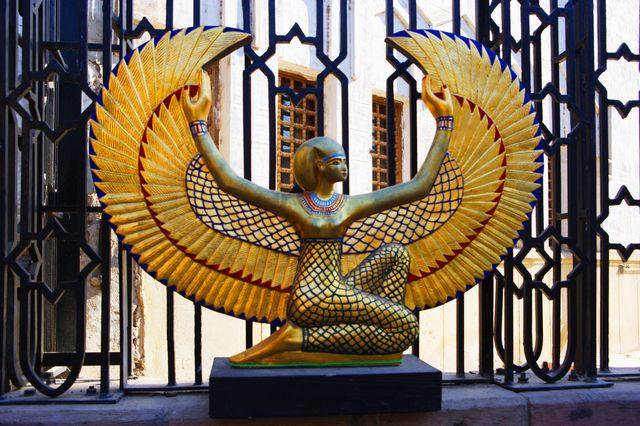 Statut d'Isis, Egypte.