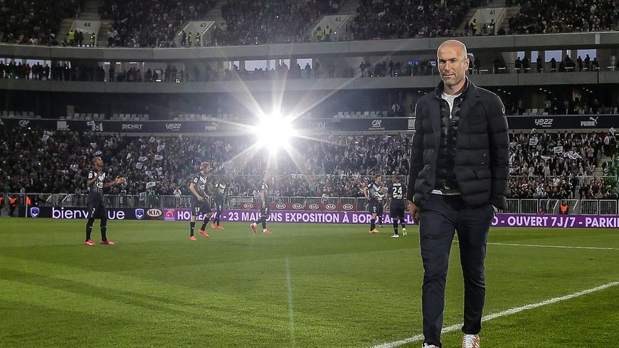 Zinedine Zidane en mai dernier à Bordeaux pour l'inauguration du stade.