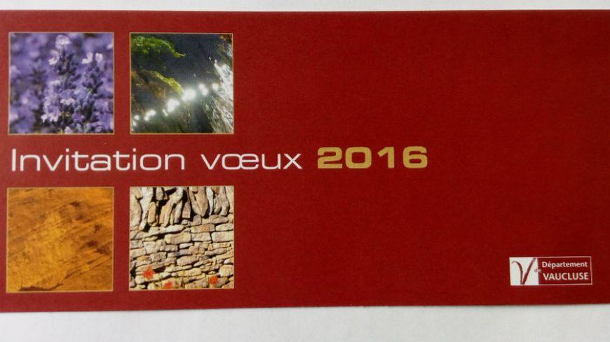 Invitation aux voeux du conseil départemental de Vaucluse