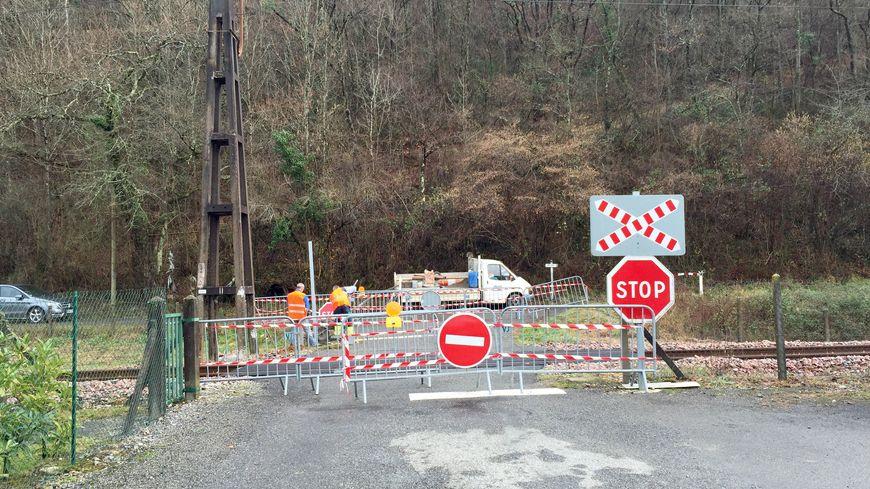 Le passage à niveau où s'est déroulé l'accident