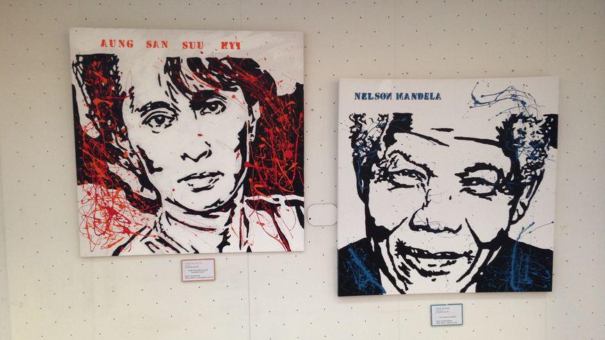 L'exposition itinérante présente les portraits d'artisans de la paix