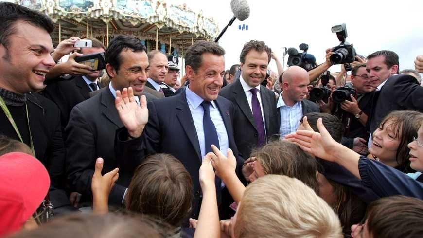 Nicolas Sarkozy en 2007 à Arcachon