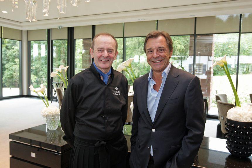Le chef étoilé Jean-Georges Klein et le Pdg de Lalique Silvio Denz - Maxppp
