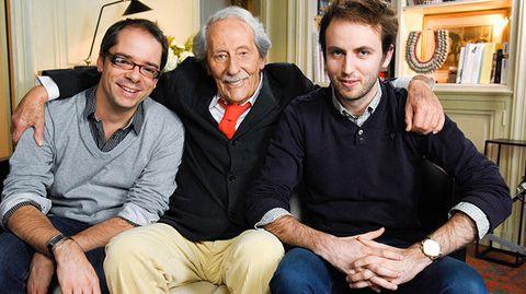 Michel Pimpant, Jean Rochefort et Quentin Leclerc (à droite)