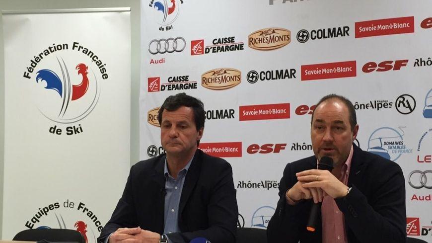 Michel Vion (Président de la FFS) et Fabien Saguez (DTN).