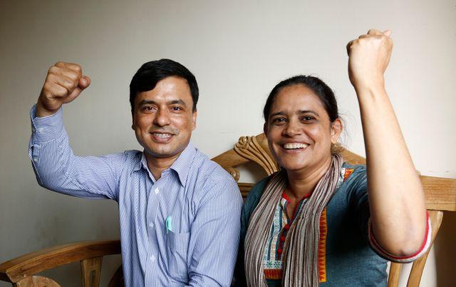 Jafrul Hasan Sharif et Nazma Akter, militants pour les droits des femmes et des travailleurs, 24 février 2015