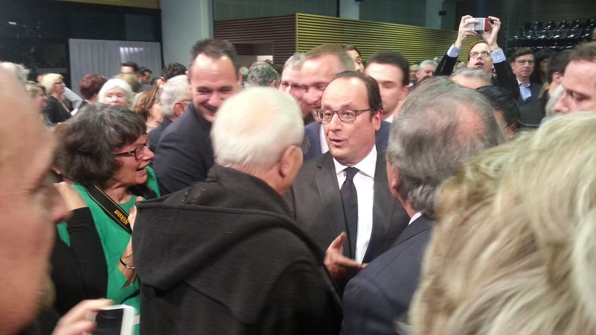 François Hollande lors de ses voeux à Tulle.