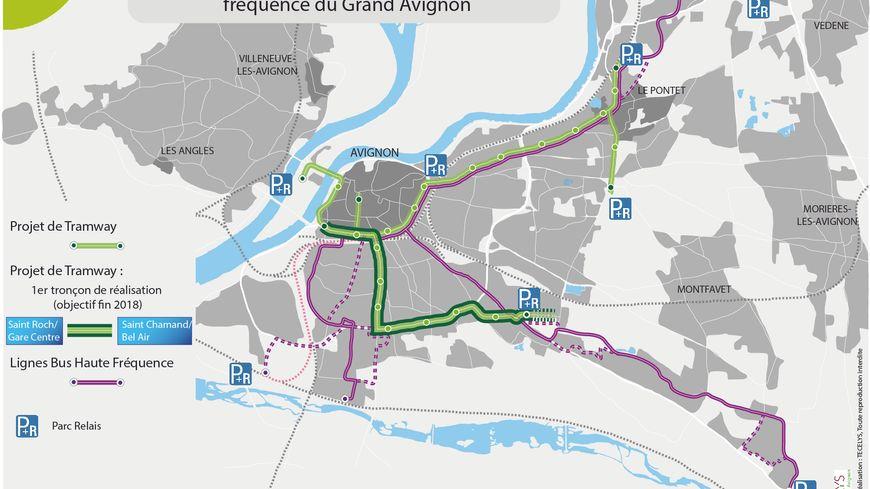 Le lancement des travaux du futur tramway du grand avignon - Ligne bus avignon ...