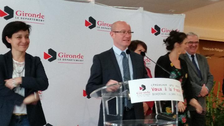 Jean-Luc Gleyze présentait ses voeux à la presse bordelaise.