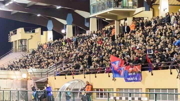 Les supporters de l'ASM Belfort au stade Serzian