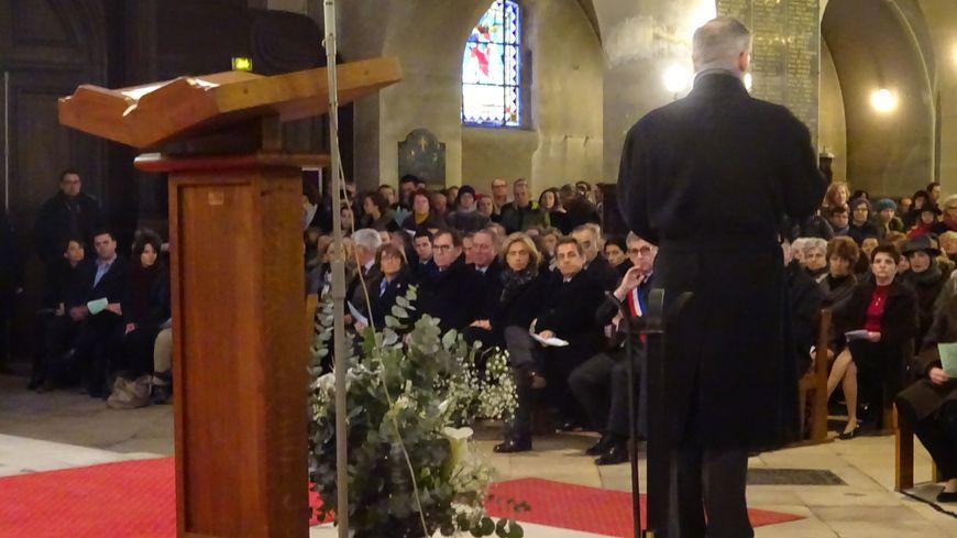 Nicolas Sarkozy et Valérie Pécresse à la messe de réparation à Fontainebleau