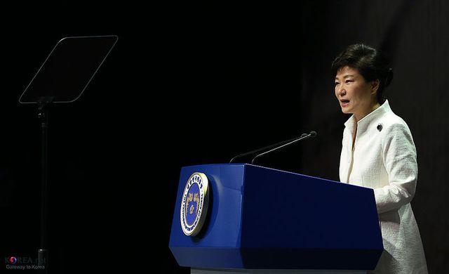 Park Geun-hye, le 1er mars 2014 à la cérémonie pour le Jour du Mouvement d'indépendance
