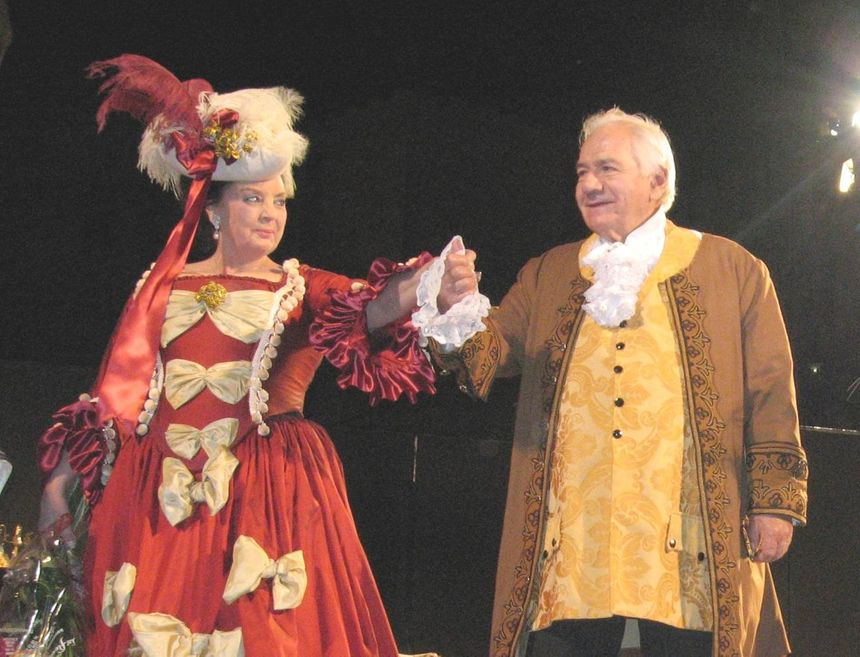 """Michel Galabru était à l'affiche de la pièce comique """"Le Turcaret."""" - Maxppp"""