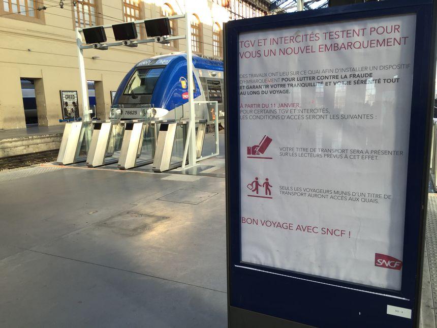 Nouveau dispositif d'embarquement en gare de Marseille-Saint-Charles - Radio France