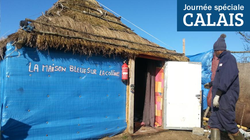 Video jungle de calais la maison bleue sur la colline int res - Maison bleue adossee a la colline ...