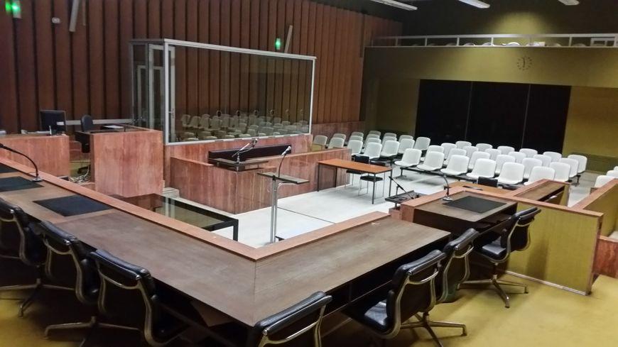 La salle d'audiences pénales du TGI de la Roche sur Yon