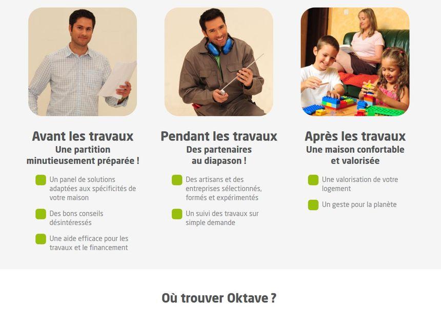 Capture d'écran de la page d'accueil d'Oktave.fr - Radio France