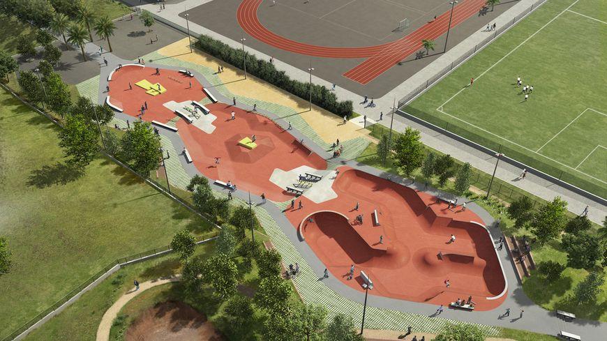 Perpignan aura un skate park capable de rivaliser avec for Piscine moulin a vent perpignan