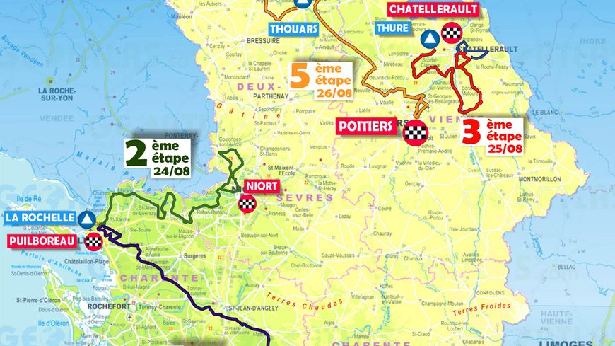Cyclisme : le parcours du Tour Poitou-Charentes dévoilé