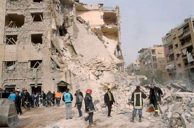 une explosion dans un faubourg d'alep, en syrie, a fait 12 morts