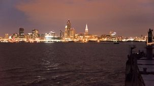 Cleveland, USA, depuis un cargo