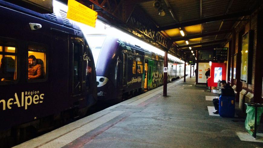 Un TER en gare de Châteaucreux (illustration)