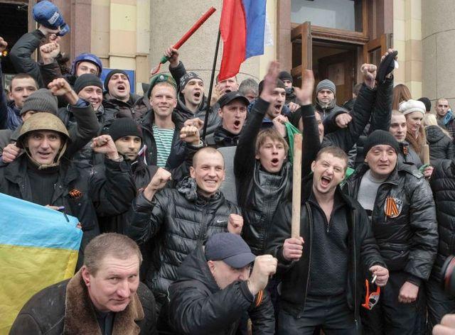 manifestations pro-russes dans l'est de l'ukraine