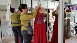 Carole Cellier, créatrice de robes de mariée