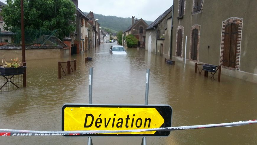 Inondation à Armeau (Yonne)