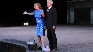 """Brigitte et Hubert dans le spectacle """" Gueules Noires"""""""