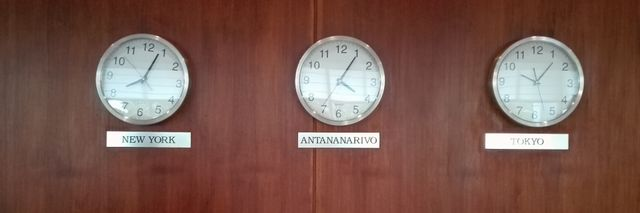 Des horloges à Antananarivo