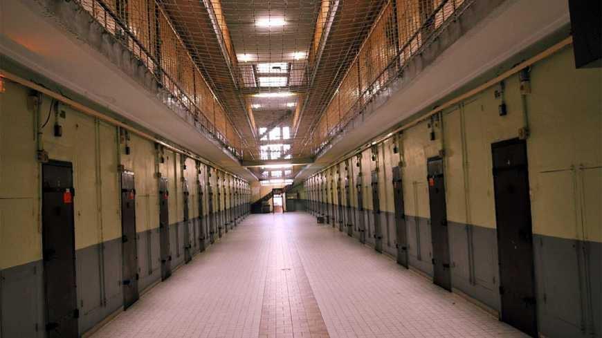 Les couloirs de la maison d'arrêt de Tours
