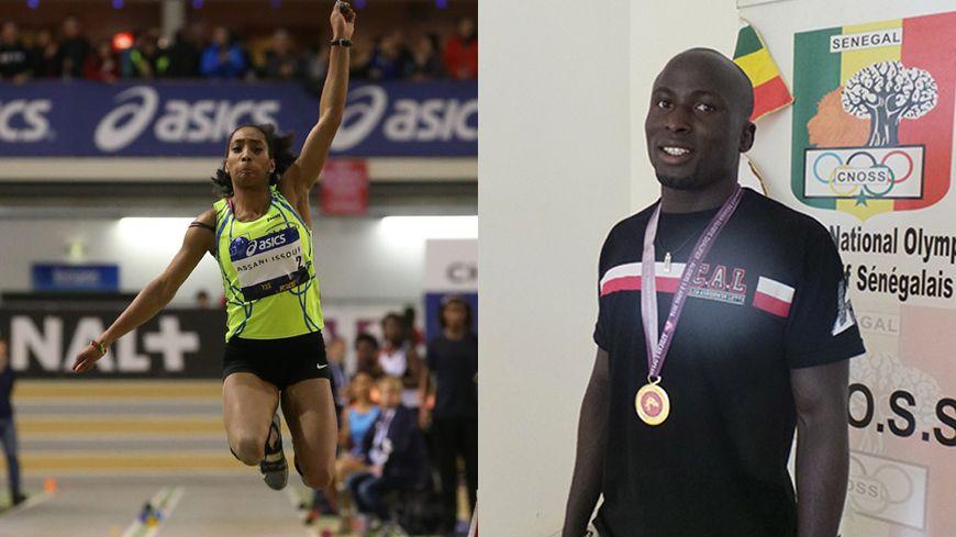 Jeanine Assani-Issouf (triple saut) et Amada Diatta (lutte libre)