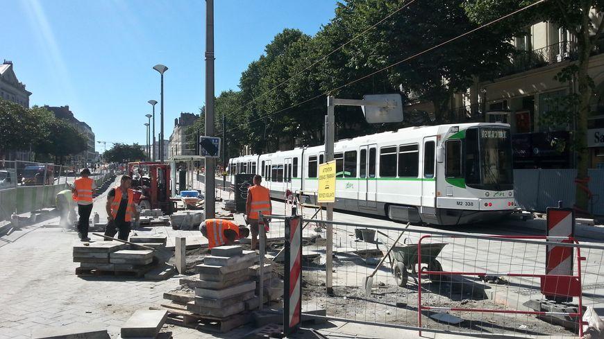 Les essais sont en cours avant le retour à la normale pour la circulation des trams à Nantes