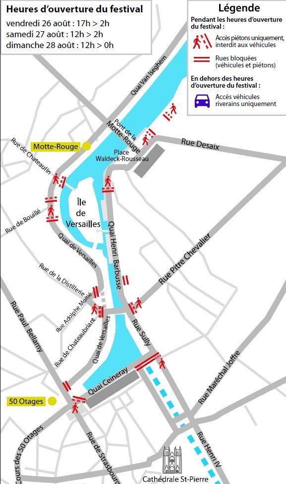 La carte du festival à Nantes - Aucun(e)