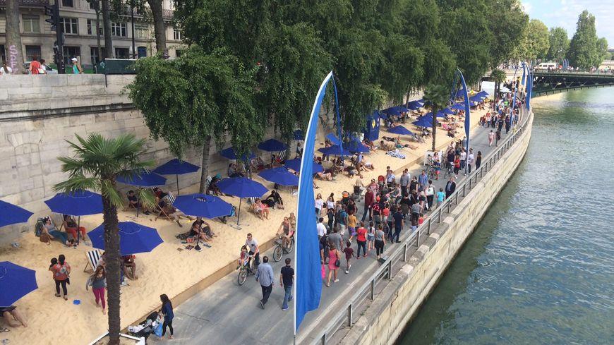 A Paris Plage, la voie Georges Pompidou est plus clairsemée que les autres années.