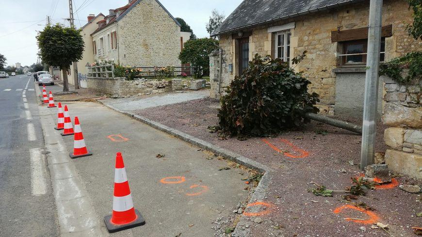l'accident a eu lieu en pleine ligne droite à Hottot-les-Bagues (14)