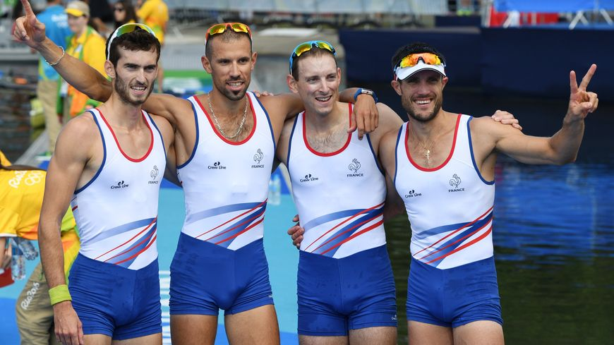 Guillaume Raineau (deuxième à gauche) et ses coéquipiers ont décroché le bronze en finale du 4 sans barreur poids léger au JO de Rio.