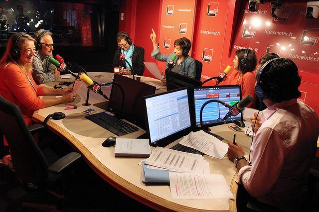 Mari-Pierre Planchon, Hervé Pauchon, Nathalie Fontrel, Rebecca Manzoni, Hélène Fily et Patrick Cohen