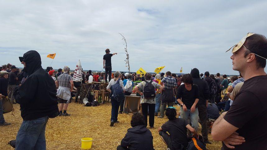 Tout l'été des militants ont manifesté contre le projet de Bure en Meuse, sur cette photo le 16 juillet dernier