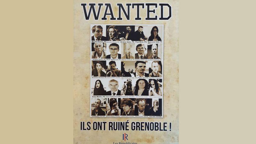 """""""Wanted"""", l'affiche des Républicains grénoblois"""