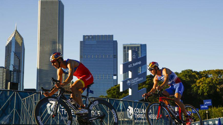 Vincent Luis était encore dans le coup au moment de l'épreuve cycliste.