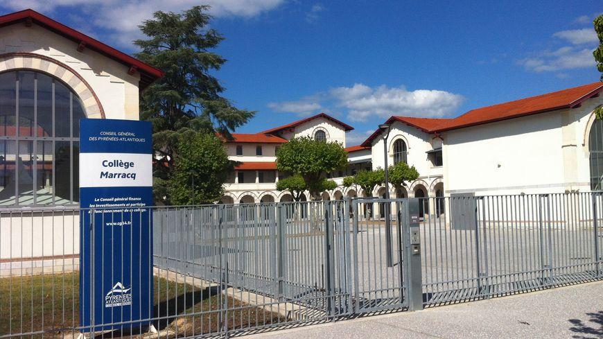 Difficile d'interdire les rassemblements à l'entrée principale du collège Marracq à Bayonne