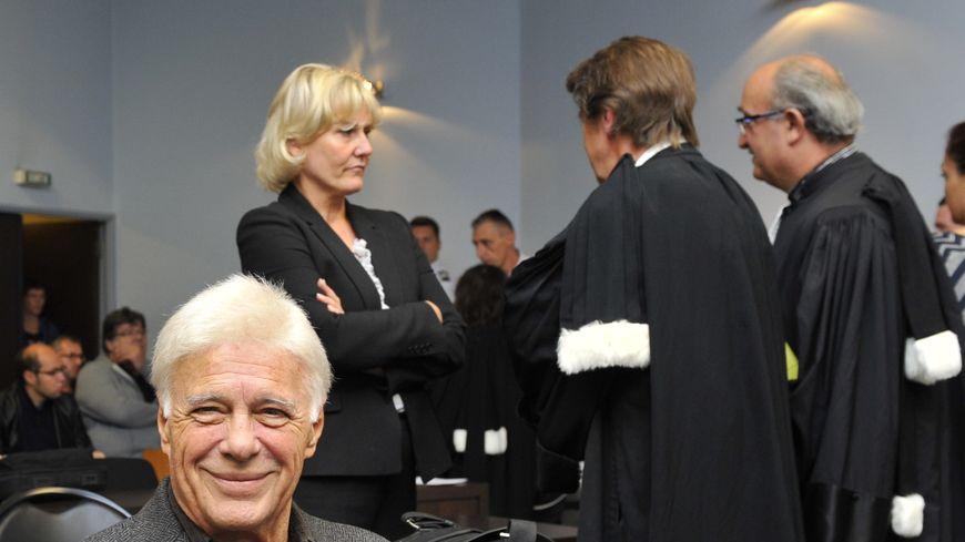 Guy Bedos et Nadine Morano, à Nancy, en septembre 2015, lors du premier procès.