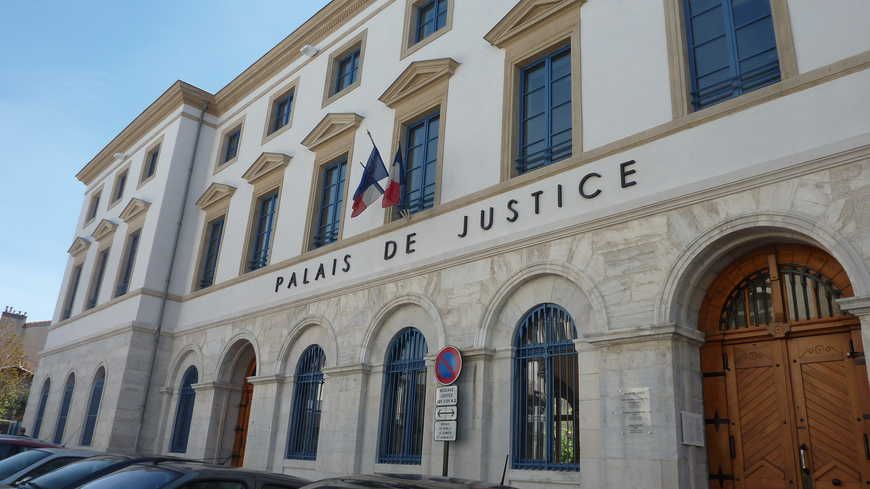 Le palais de justice de Valence dans la Drôme.