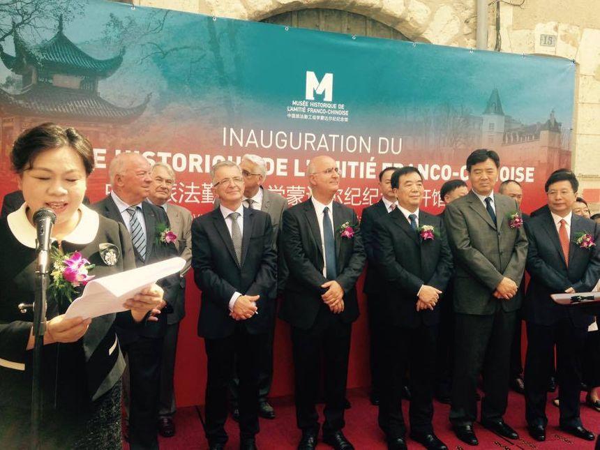 Plusieurs officiels chinois, dont l'ambassadeur de Chine en France, ont fait le déplacement. - Radio France