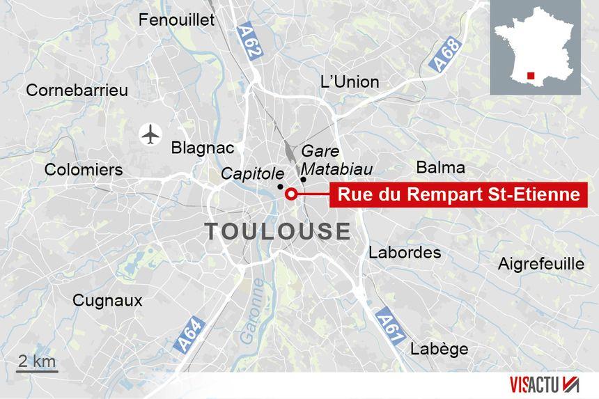 Le commissariat de la rue rempart Saint Etienne en plein centre-ville de Toulouse - Aucun(e)